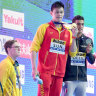 Mack Horton refuses to share podium with Sun Yang after Chinese star wins world title