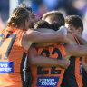 'I didn't even know we'd won': Giant caught up in emotion in Geelong