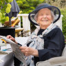 At 100, Helen is all frocked up and raring to go