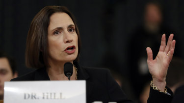 Former White House national security aide Fiona Hill has warned Republicans against repeating Kremlin lies.