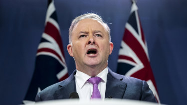 Anthony Albanese flagged bipartisanship on some issues while vowing to take the fight to Scott Morrison.