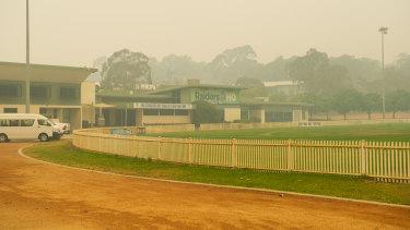 Smoke shrouds Raiders HQ in Canberra.