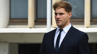 Jack de Belin has denied allegations he  raped a woman during a night out in Wollongong.