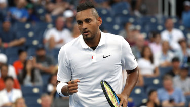 Nick Kyrgios prevailed in straight sets to reach the third round of the US Open.