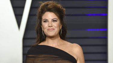 Monica Lewinsky at the Vanity Fair Oscar Party.