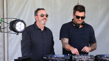 Potbelleez DJs perform at the Hawkesbury Race Clubs Provincial Championships in March.