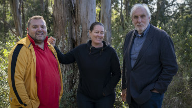 Planning an epic drama about Pemulwuy: writerJon Bell (left), director Catriona McKenzie and executive producer Phil Noyce.