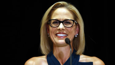 Democrat Kyrsten Sinema narrowly defeated Republican Martha McSally in the Arizona Senate race.