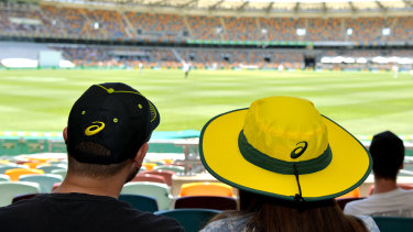 Empty threat: Spectators were few and far between at the Gabba.