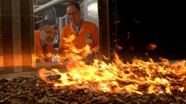At the CSIRO Pyrotron.