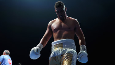 Justis Huni during the Gallen fight.