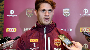 Man in demand: WA-born NRL star Kalyn Ponga returns to Perth and was almost playing AFL.