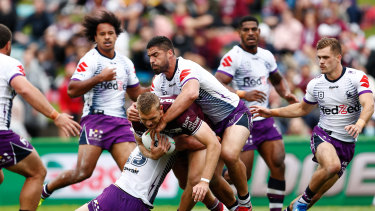 Manly were no match for Melbourne in round one.