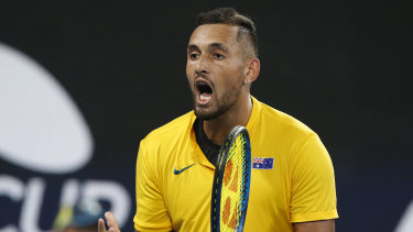 Nick Kyrgios admits he still struggles with motivation when not playing for Australia.