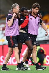 Knee reconstruction: Irving Mosquito leaves the ground.