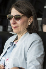 NSW Premier Gladys Berejiklian has plenty on her mind as she takes in the first session of the fourth Test match at the SCG on Thursday.