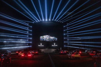The MaseratiMC20 was launched at a mega event at the Modena Circuit complete with drive-in audience setting.