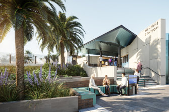 An artist's impression of the new Mentone station.