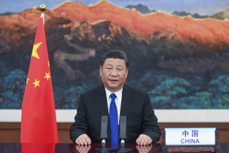 Chinese President Xi Jinping appeared at the opening of the 73rd World Health Assembly via video link in Beijing on Monday.