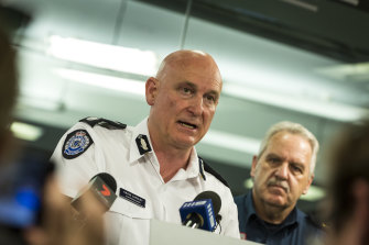 Former Emergency Commissioner Craig Lapsley, seen here at a news conference in 2018.