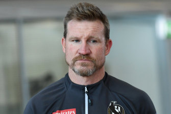 Collingwood great Nathan Buckley.