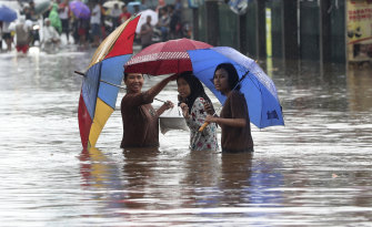 Severe flooding has hit Indonesia's capital, displacing thousands of people.