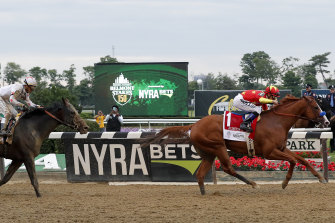 Triple Crown champ: Justify's Belmont Stakes win claimed the prestigious trio of US races.
