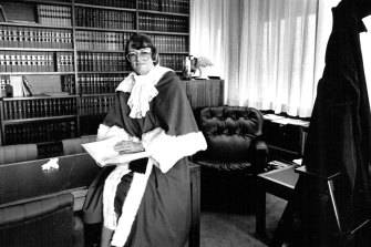 Jane Mathews, the first female judge of the NSW Supreme Court, in 1987.