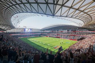 An artist's impression of the new Sydney Footbll Stadium.