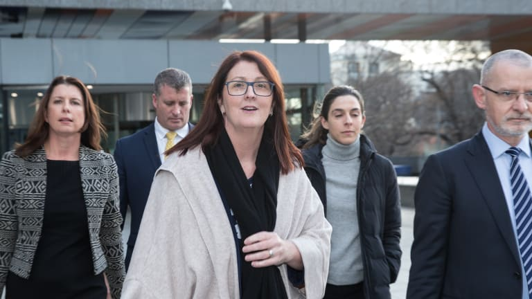 Ex-NAB trustee Nicole Smith outside the royal commission.