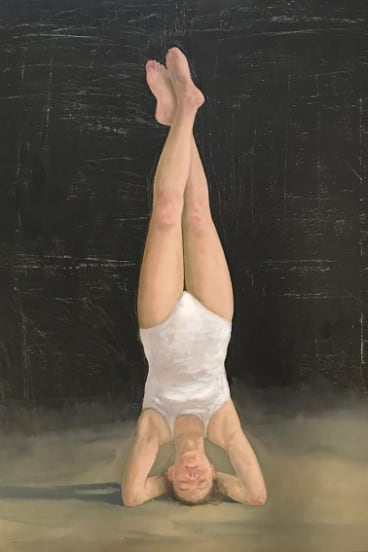 Graeme Drendel, <i>Headstand</i> in <i>On uneven ground</i> at Beaver Galleries.