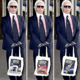 The late Chanel designer Karl Lagerfeld is no doubt enjoying his limited edition tote bag for the 2019 Heritage Festival in a galaxy far, far away.