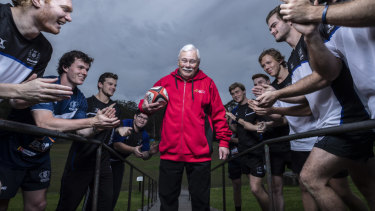 Grassroots: Ian Frame, 71, joint-winner of HSBC Volunteer of the Year, for 30 years of work with Knox Rugby Club.