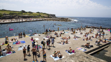 Hanging out: Sydneysiders are likely flock to places like Clovelly over Easter with good weather on the way.