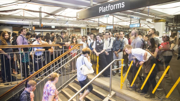 Commuters were temporarily prevented from entering platforms at Town Hall in January to avoid dangerous overcrowding.