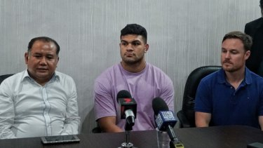 The NRL is yet again dealing with a number of off-field incidents, including David Fifita's (centre) arrest in Bali.