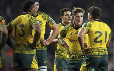 Year to forget: The Wallabies' 2018 campaign ended with a 37-18 loss to England at Twickenham.