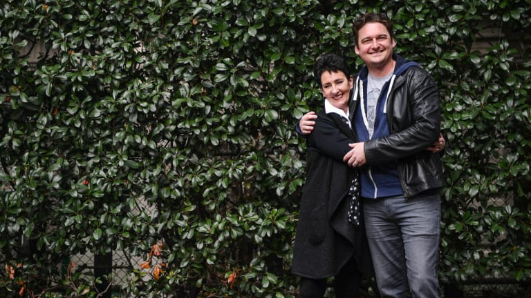 Toby Leonard Moore and his mother, Robyn Moore.