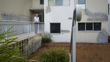Elara apartment owners, including David Allen (pictured), are suing the builders' insurance scheme for alleged defects in their complex.