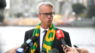Get Onside: David Gallop urges Australian public to support 2023 World Cup bid.