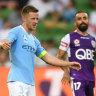 City blow rare shot at Glory as McLaren scores new A-League record