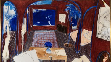 Henri's Armchair, by Brett Whiteley, painted in 1974 and 1975.