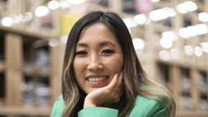 Jane Lu in the Chullora warehouse of her online retailer ShowPo.