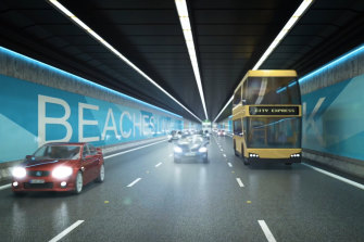 The multibillion-dollar Beaches Link motorway will bypass Military Road.