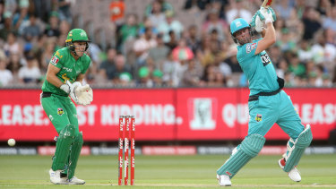 AB de Villiers belted 71 off 37 balls for Brisbane Heat in their win over the Melbourne Stars  at the MCG on Saturday night.