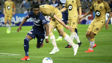 Melbourne Victory's Elvis Kamsoba is fast at the front but needs better service.