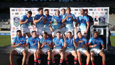 The Roosters won the Nines in 2017, the last time the competition was held.