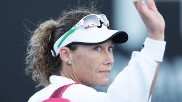 Sam Stosur is not comfortable with media, but honours the obligation.