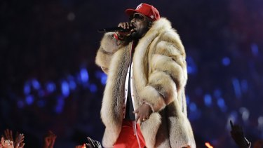 Big Boi performing at the halftime show.