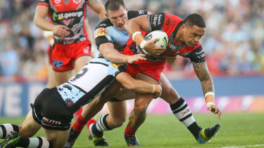 Rivalry: Tyson Frizell's Dragons and Paul Gallen's Sharks share a long history.